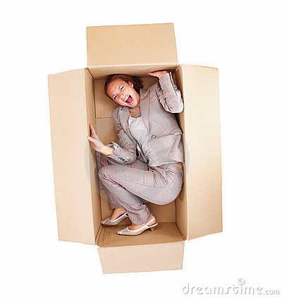 frustrated-business-woman-stuck-in-a-box-isolated-thumb7145177